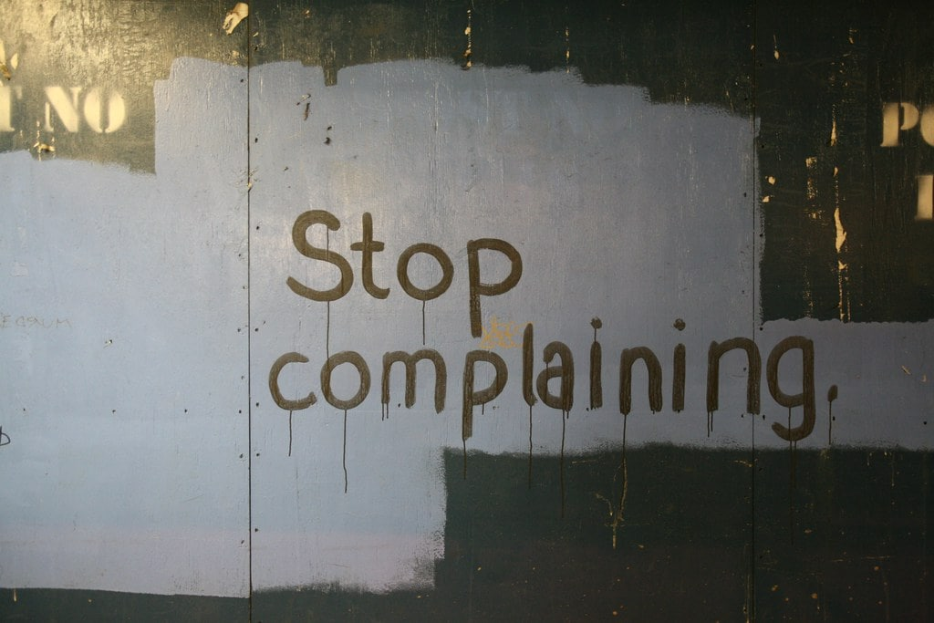 Stop complaining by Alan Turkus