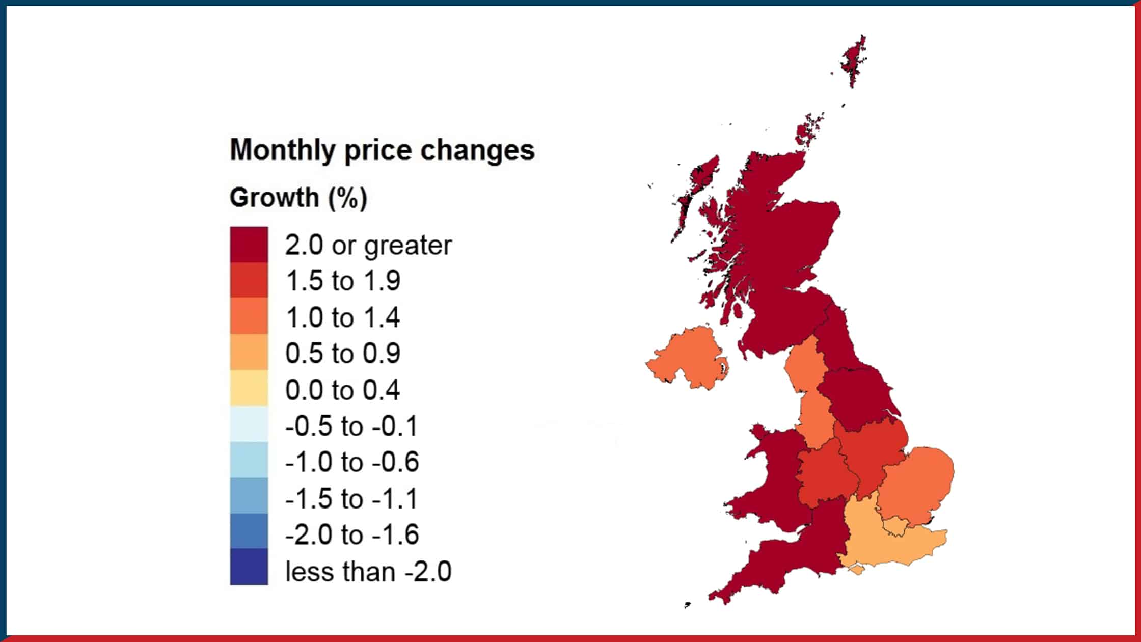 UK Property Price Changes - March 2021