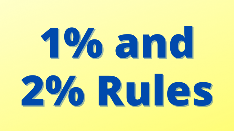 1% and 2% rules in real estate investing